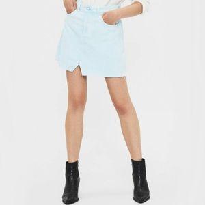 Bershka light blue denim skirt
